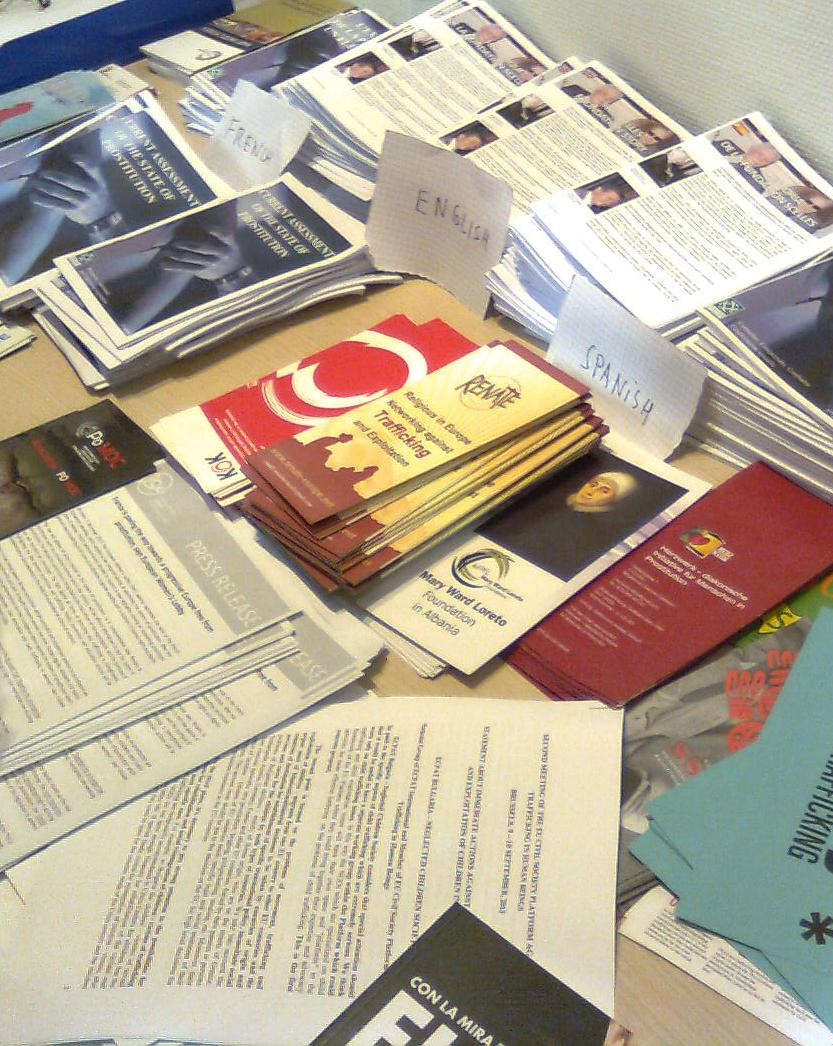 Leaflets showing variety of participants