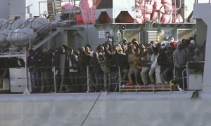 Migrants on the ship