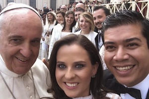 Pope Francis and families