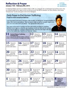 Calendar of daily prayers to end Human Trafficking_St. Bakhita_ENG