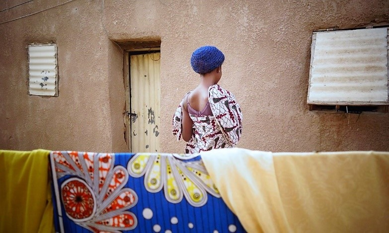 One of Agadez's 'Connection Houses,' where middlemen put migrants in touch with people smugglers. Photograph: IOM.