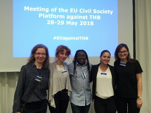 Fiive RENATE members participating on behalf of their respective Country organisations- L to R- Poland, Slovakia,Malta, Albania, Lithuania.