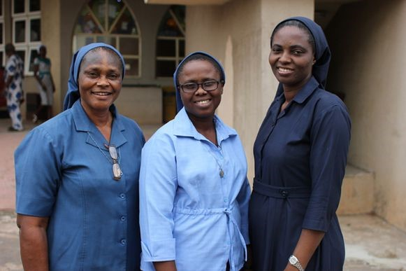 Sr. Bibiana (left) and her colleagues. Photo courtesy of sarah Haaij.
