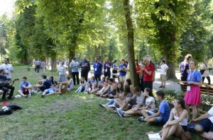 Singing at the National Catholic Youth Days in Cluj-Napoca