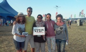 STOP Human Trafficking Project Team at the POHODA Music Festival