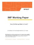 IMF Working Paper Feb 2020 (does child marriage matter for growth?)